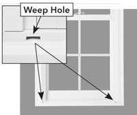 Window weep hole diagram